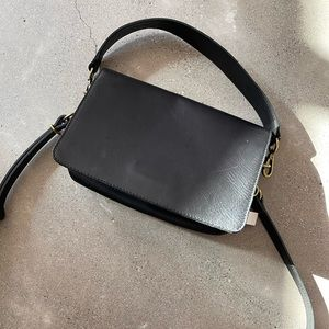 Madewell Flap Convertible w/ new leopard shoulder strap
